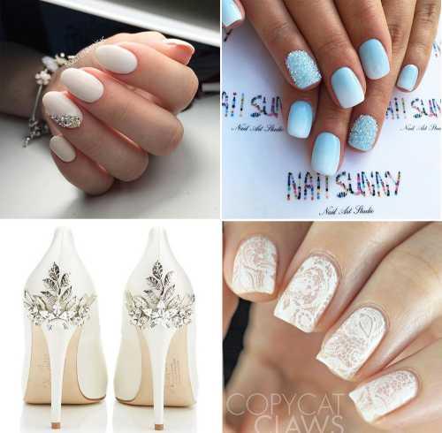 свадебный маникюр на короткие ногти, лучшие идеи 2015 года